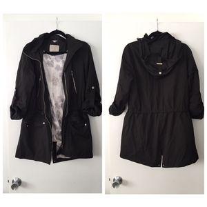 SALE Soia & Kyo black rain resistant anorak jacket